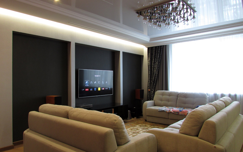 Домашний кинотеатр в гостиной