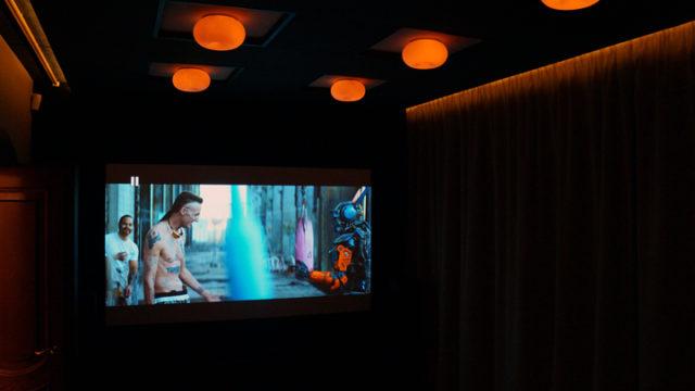 Проекционный экран домашнего кинотеатра