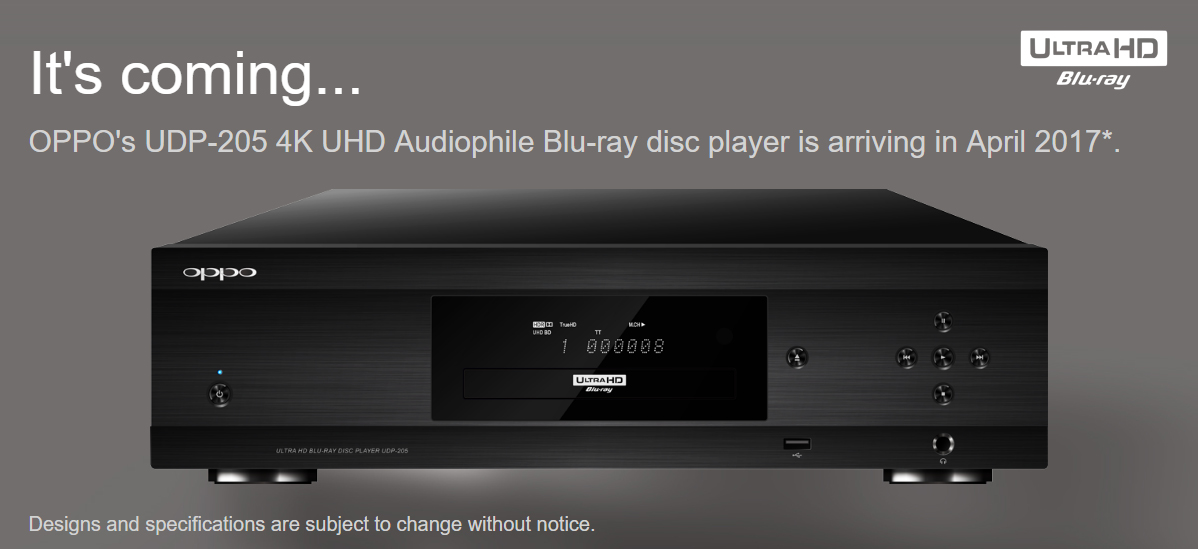 Oppo UDP-205 It's coming