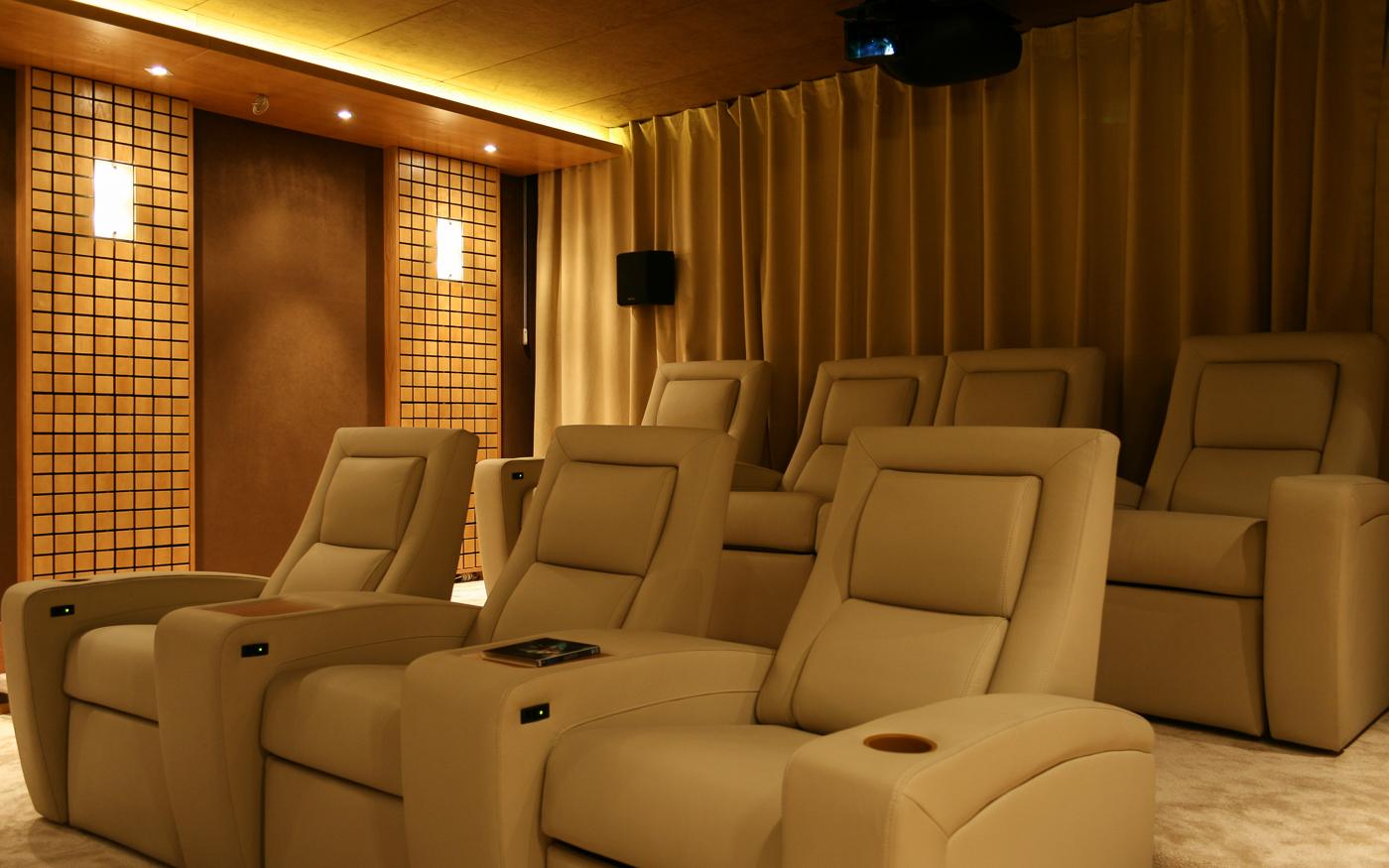 Зрительские места персонального кинозала
