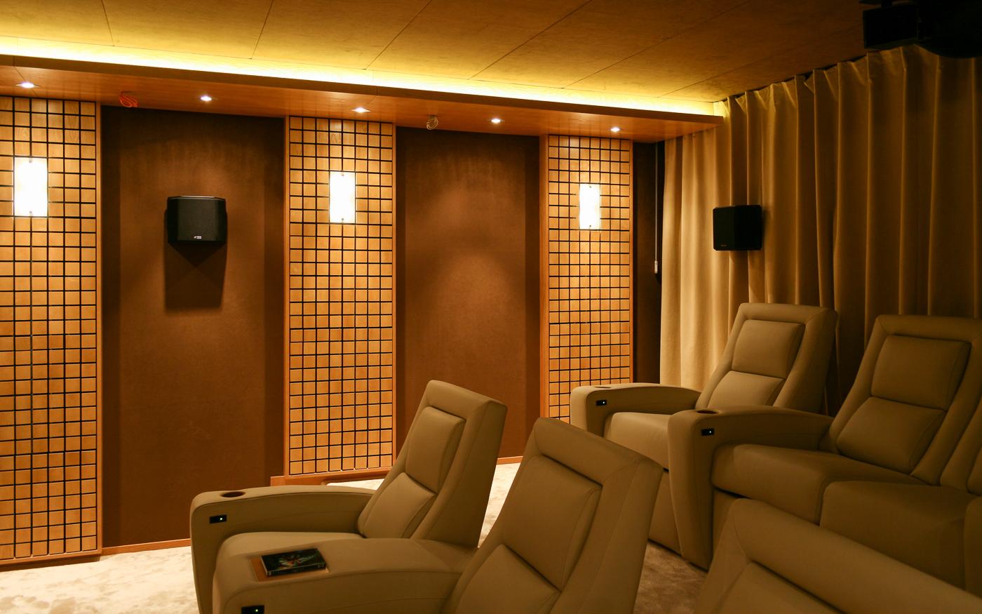 Боковые и тыловые акустические системы в кинозале