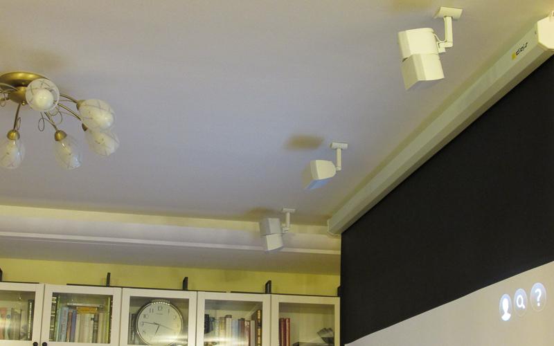 Домашний кинотеатр с потолочными акустическими системами