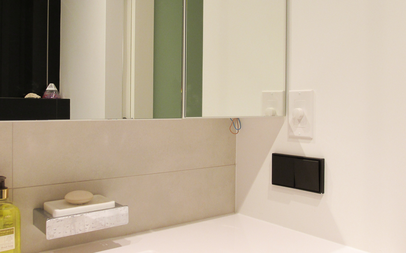 Регулятор громкости в ванной комнате
