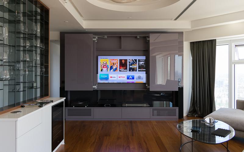 Телевизор Sony с разрешением 4K в составе домашнего кинотеатра