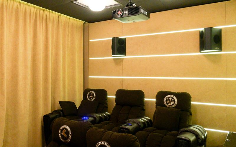 Домашний кинозал с проектором Panasonic