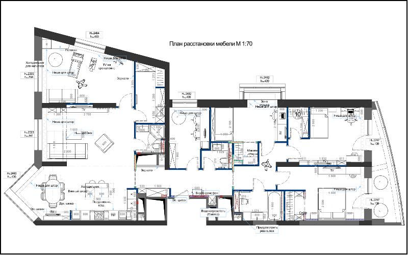 Проектирование домашнего кинотеатра. Планировка помещения 1