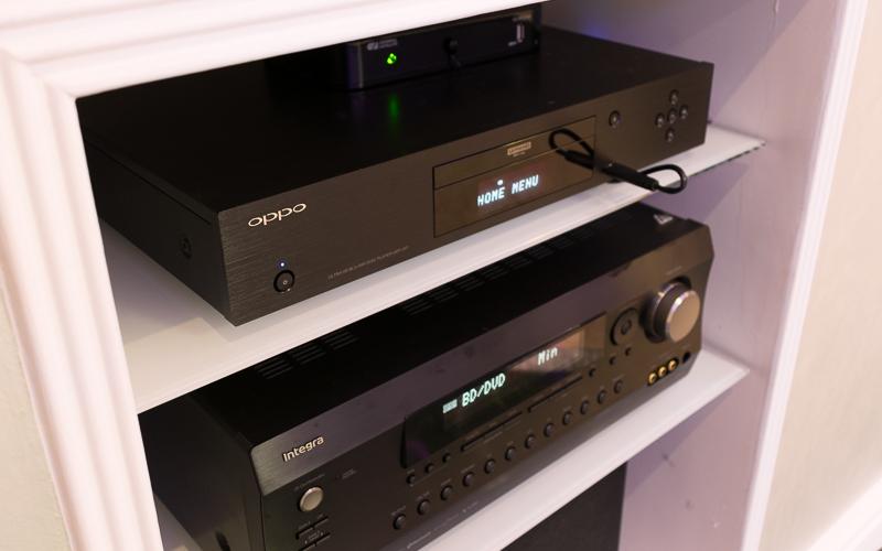 UHD-плеер Oppo UDP-203 и АВ-ресивер Integra DRX-5