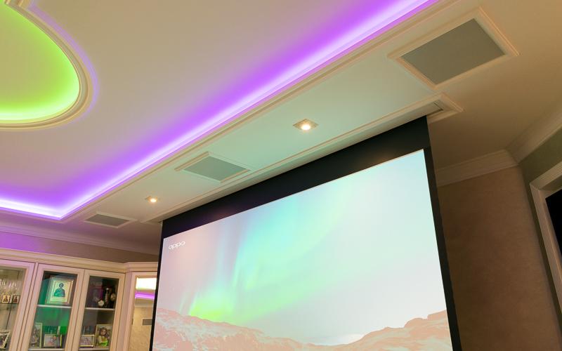 Встраиваемый в потолок электрический экран Projecta