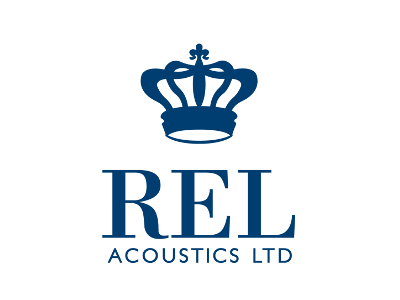 Логотип REL - английские сабвуферы для домашнего кинотеатра