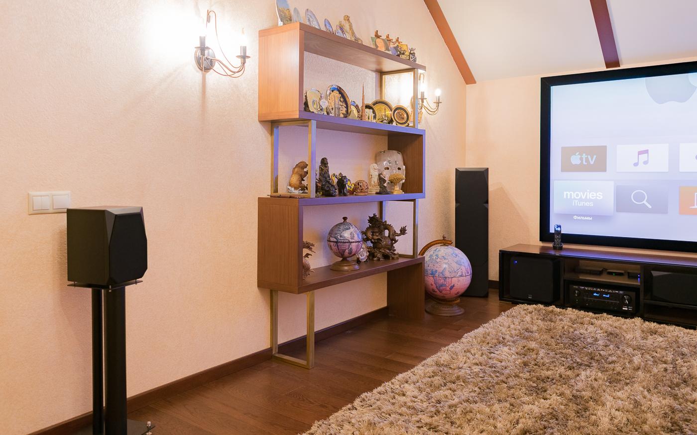 Размещение акустических систем домашнего кинозала